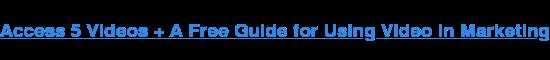Accedi a 5 video + Una guida gratuita per l'utilizzo di video in marketing