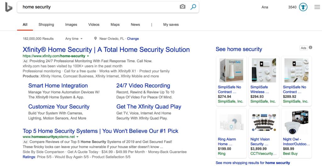 Esercitazione su Bing Ads