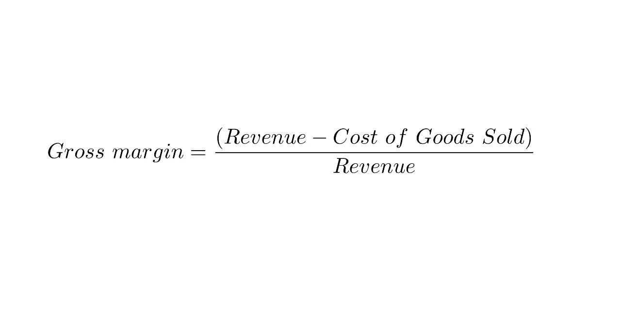 Formula del margine di profitto lordo