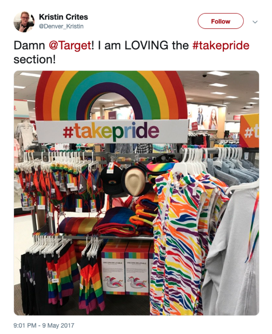 @Denver_Kristin Target Pride tweet