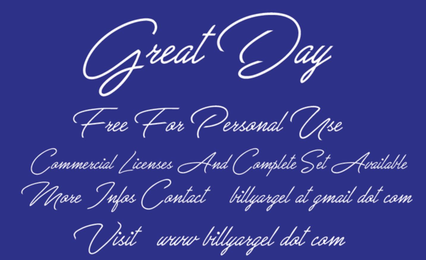 Font retrò calligrafia chiamato Grande giorno