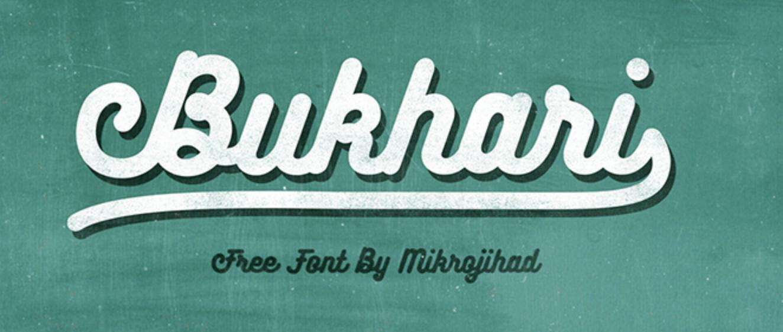 Carattere calligrafico grassetto chiamato Bukhari Script