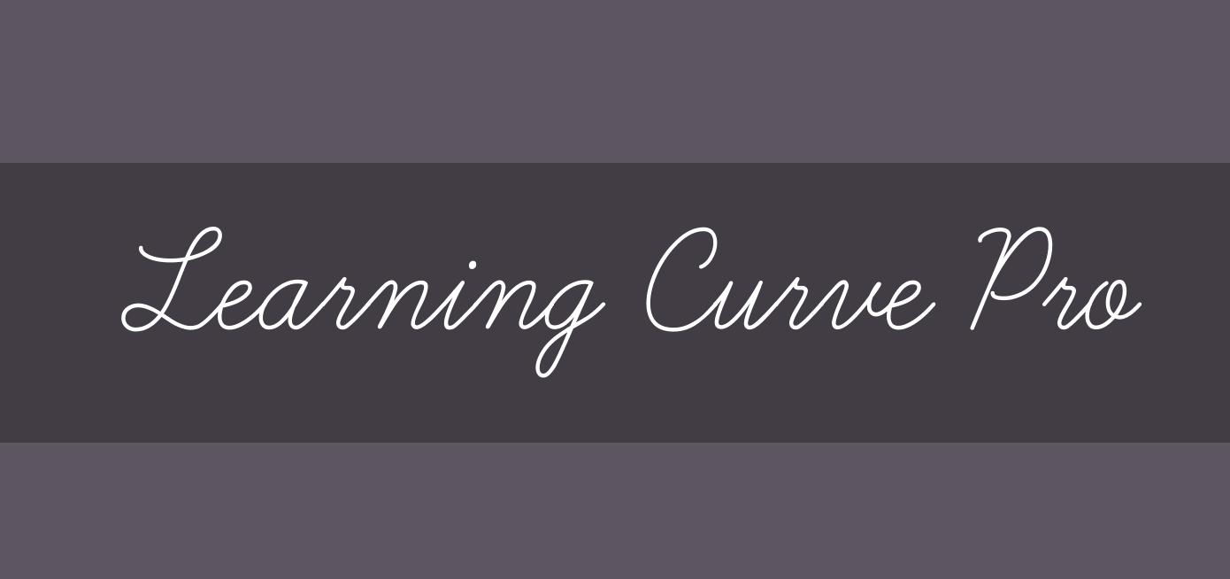 Font semplice da calligrafia chiamato Learning Curve Pro