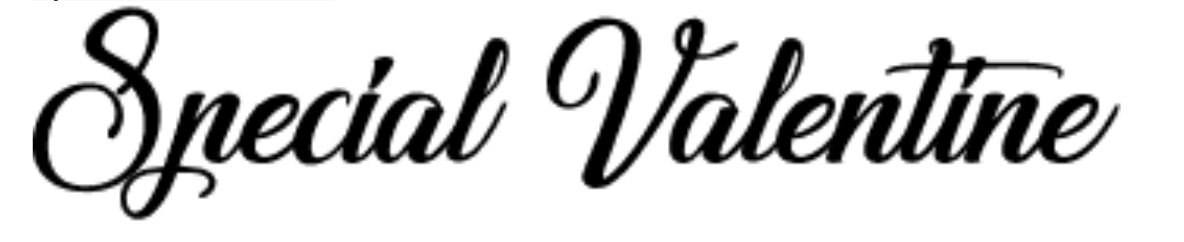 Caratteri calligrafici classici chiamati Special Valentine