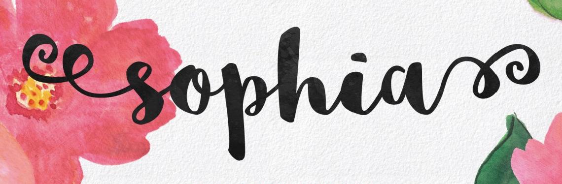 Affascinante, femminile font calligrafico chiamato Sophia