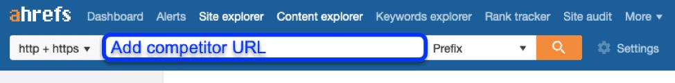 Ricerca URL Ahrefs