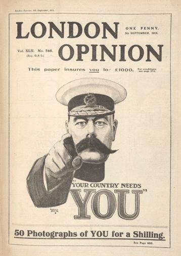 Manifesto di reclutamento dell'esercito del 1914