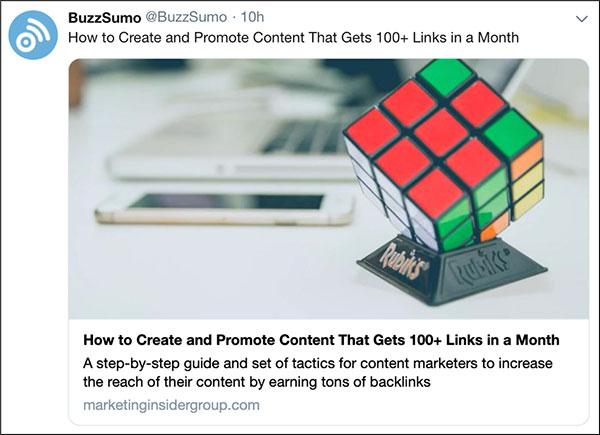 Scrivi titoli che danno un come, come questo post social BuzzSumo