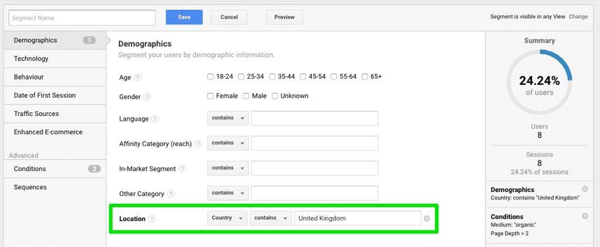 Dati demografici in Google Analytics