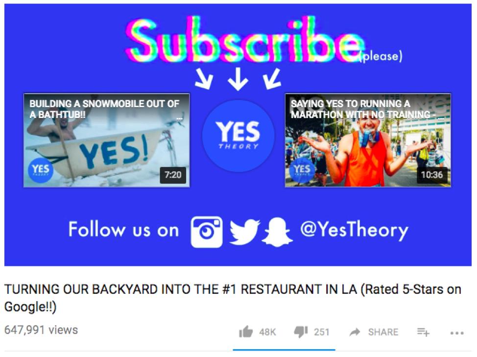 Esempio di YouTube