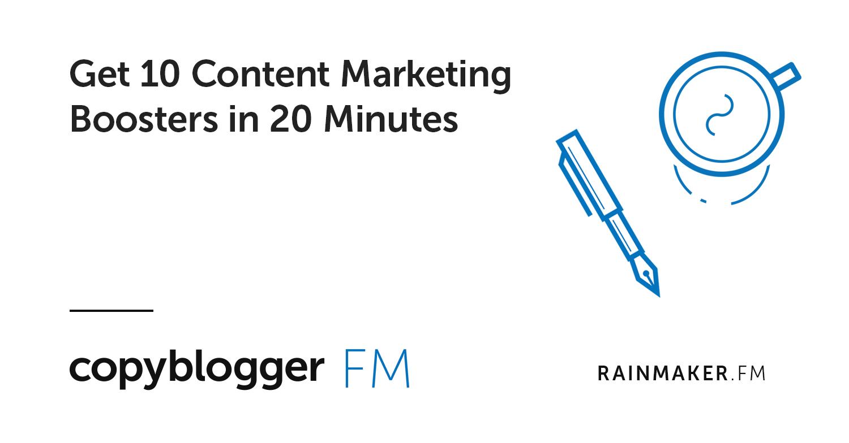 Ottieni 10 Booster di Content Marketing in 20 minuti