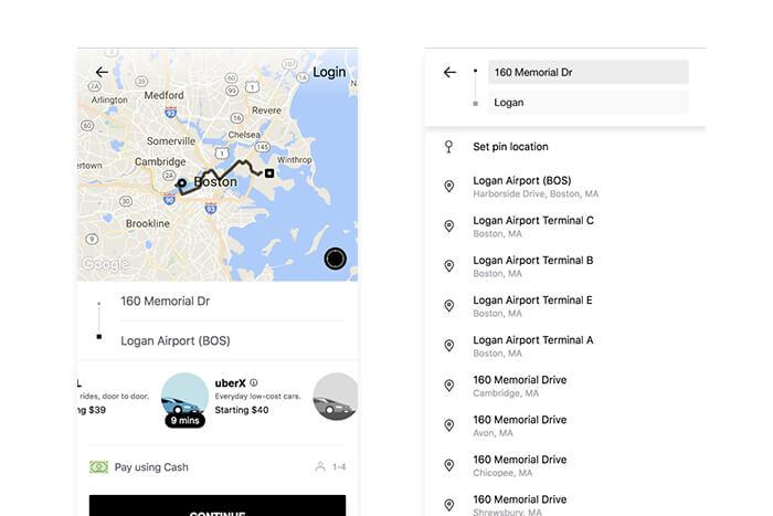 Applicazione web progressiva di Uber