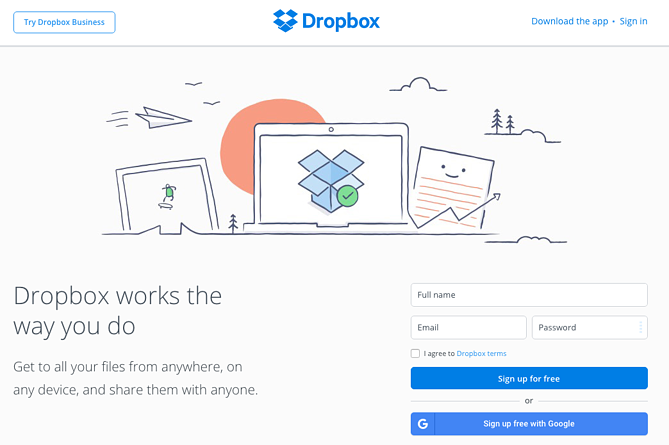 """Esempio di call to action button di Dropbox """"title ="""" dropbox-cta-1.png """"width ="""" 669 """"height ="""" 446 """"srcset ="""" https://blog.hubspot.com/hs-fs/hubfs/dropbox- cta-1.png? width = 335 & height = 223 & name = dropbox-cta-1.png 335w, https://blog.hubspot.com/hs-fs/hubfs/dropbox-cta-1.png?width=669&height=446&name = dropbox-cta-1.png 669w, https://blog.hubspot.com/hs-fs/hubfs/dropbox-cta-1.png?width=1004&height=669&name=dropbox-cta-1.png 1004w, https : //blog.hubspot.com/hs-fs/hubfs/dropbox-cta-1.png? width = 1338 & height = 892 & name = dropbox-cta-1.png 1338w, https://blog.hubspot.com/hs- fs / hubfs / dropbox-cta-1.png? width = 1673 & height = 1115 & name = dropbox-cta-1.png 1673w, https://blog.hubspot.com/hs-fs/hubfs/dropbox-cta-1.png ? width = 2007 & height = 1338 & name = dropbox-cta-1.png 2007w """"sizes ="""" (larghezza massima: 669px) 100vw, 669px"""