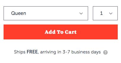 single cta per la pagina di destinazione e-commerce