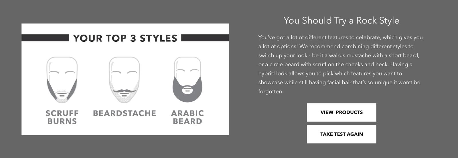 test di barba