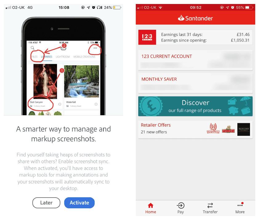 Messaggi interrupt app