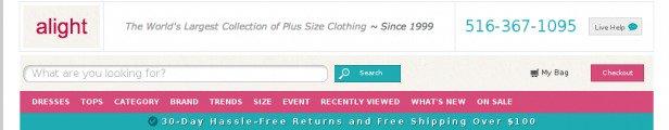 navigazione della home page aggiornata con barra di ricerca