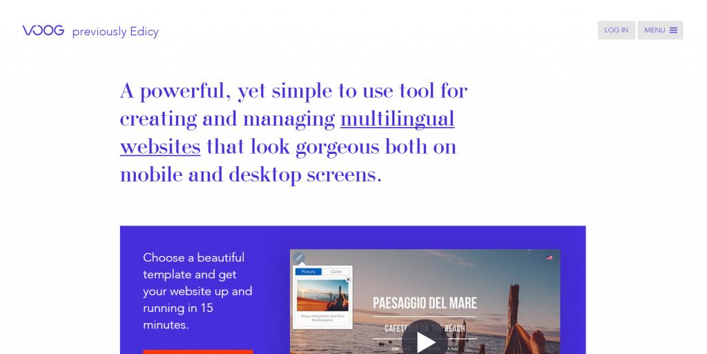 esempio di chiarezza sulla copia della home page.