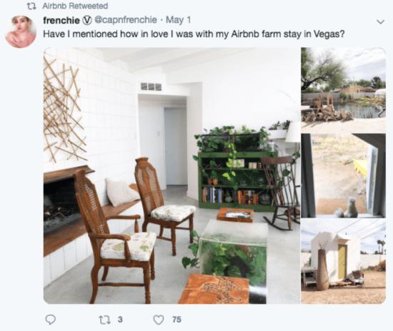 Retweet Airbnb