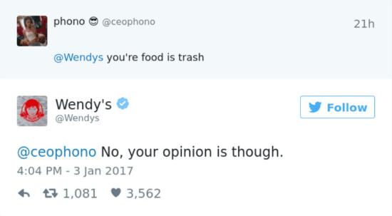 Il tweet di Wendy