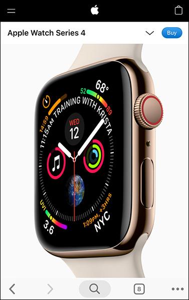 Pulsanti appiccicosi come questo sul sito Apple aiutano con l'ottimizzazione dell'e-commerce mobile