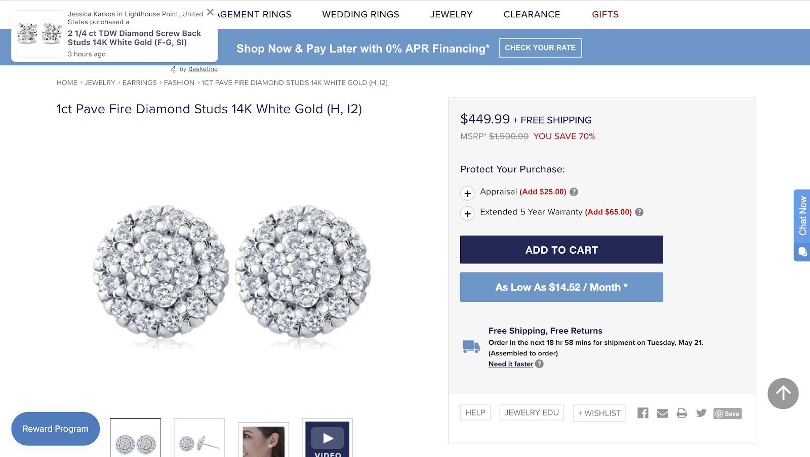gioielli online pompeii 3 diamanti