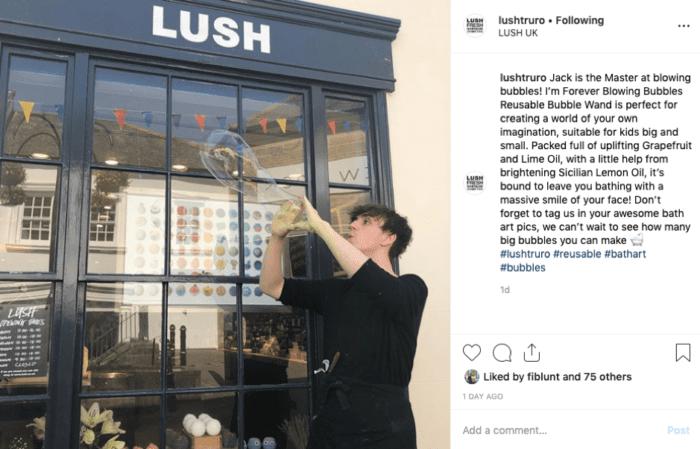 Lush Truro post di Instagram