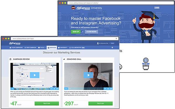 AdEspresso strumento di social media marketing