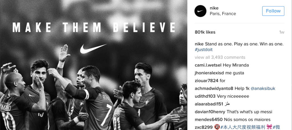 Nike Instagram Image
