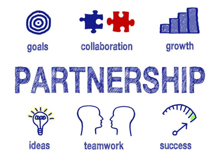 Infografica di partnership