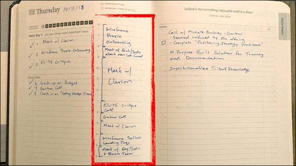 Immagine del diario scritto di Ryan
