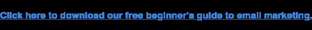 Clicca qui per scaricare la nostra guida gratuita per principianti all'e-mail marketing.