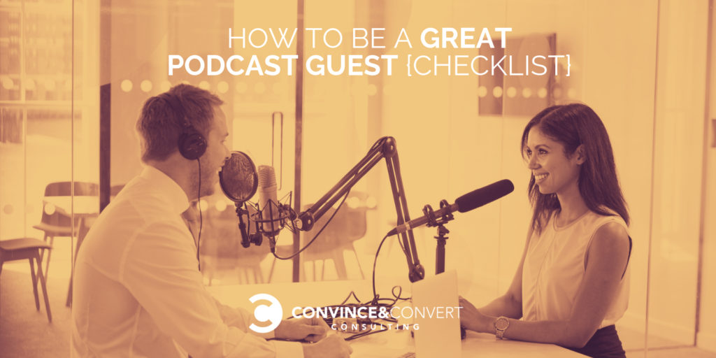 Come essere un grande Podcast Guest {Lista di controllo}