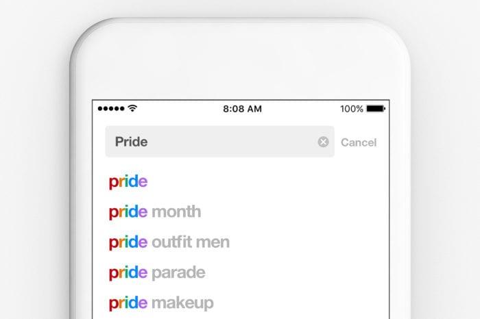 Filtro di testo Pride Pinterest