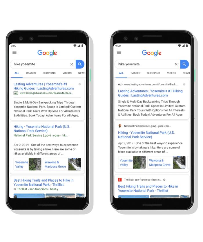 Aggiornamento ricerca di Google