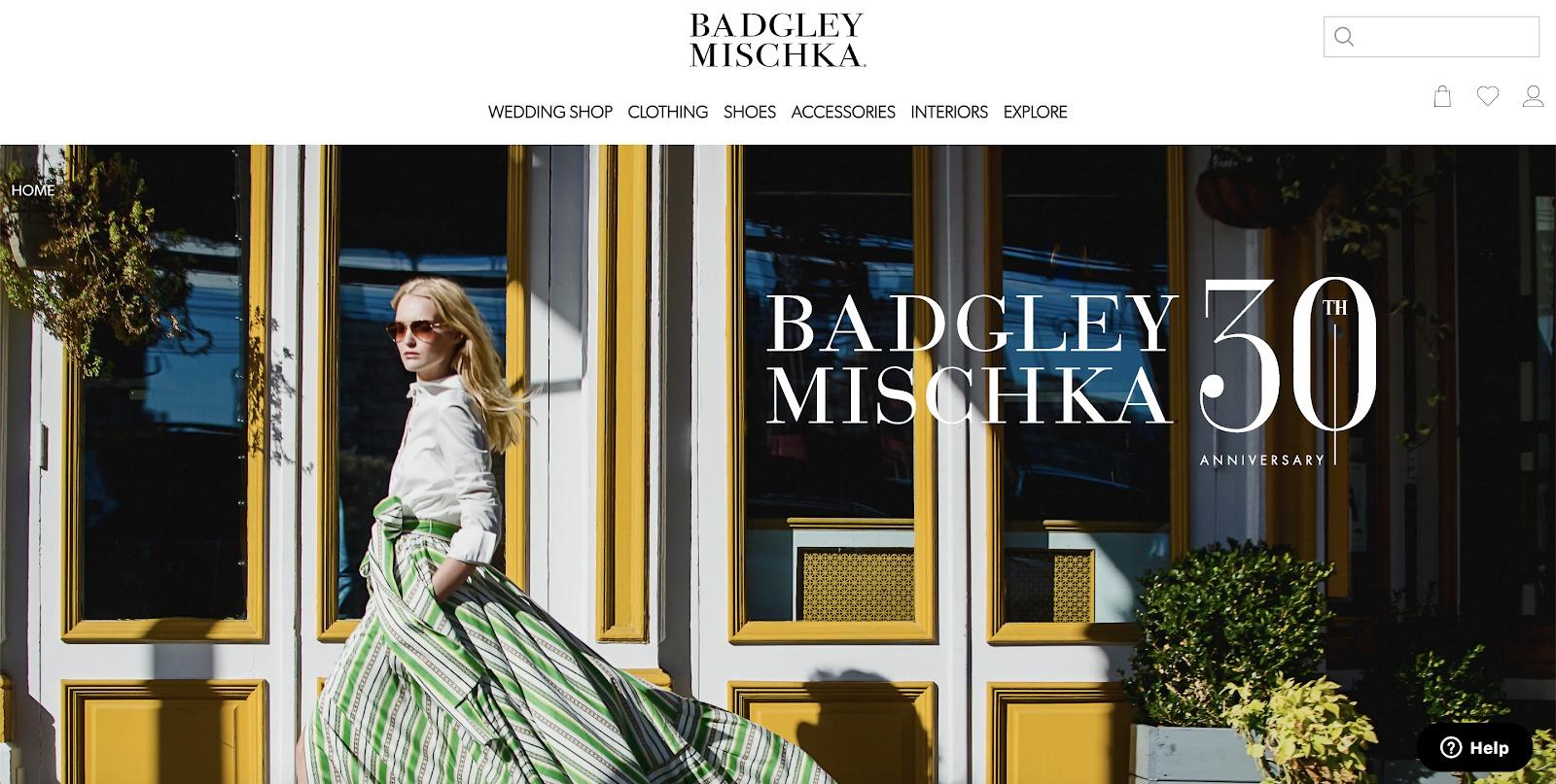 Esempio di negozio Badgley Mischka