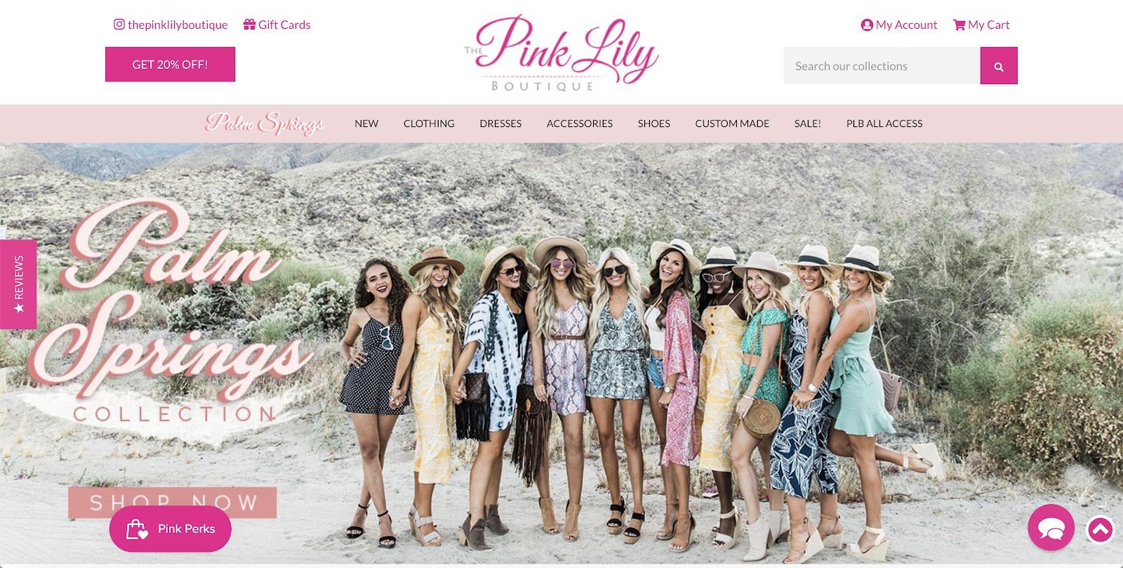 esempio di boutique giglio rosa