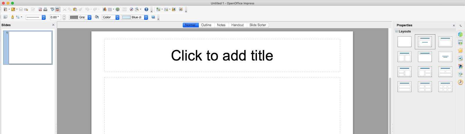 Funzionalità di presentazione Apache OpenOffice