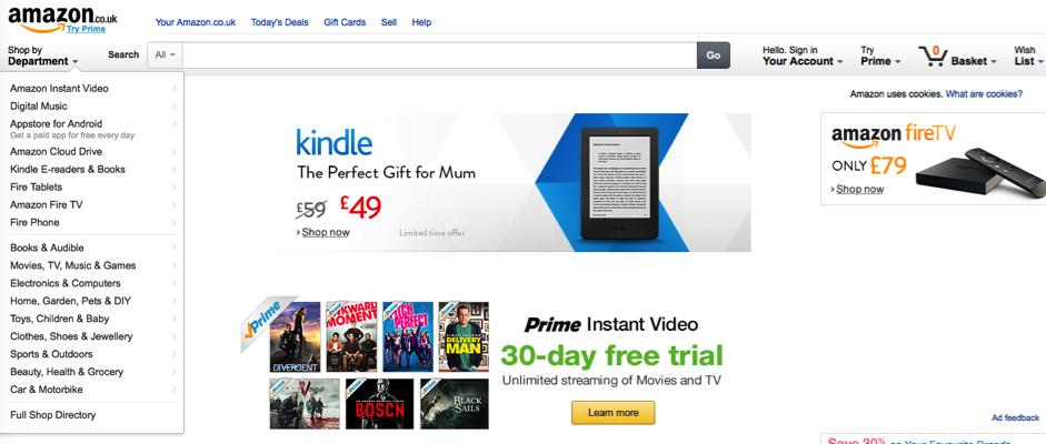 negozio di Amazon esempio 1
