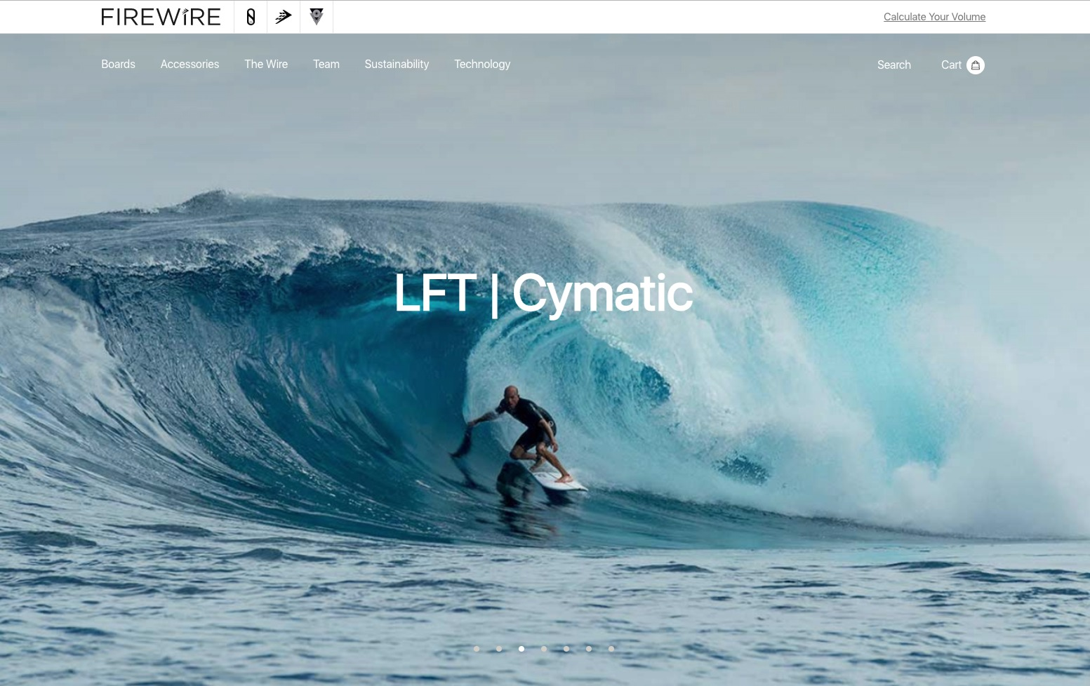 esempio di negozio di tavole da surf firewire
