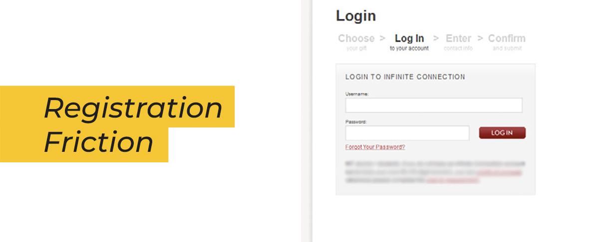 esempio di accesso forzato alla pagina di donazione.