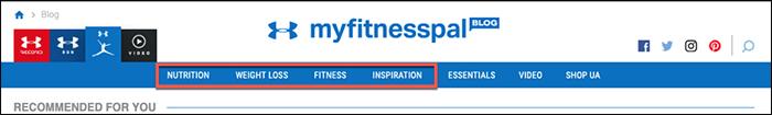 Esempi di categorie di blog