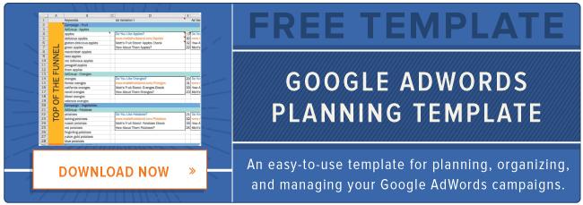 modello Google AdWords gratuito