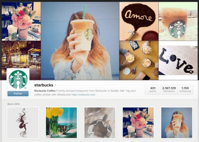 Starbucks su Instagram