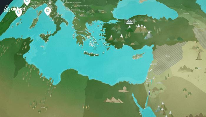 Mappa AirBnB