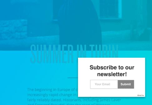 Newsletter pop-up