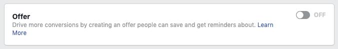 Attivare gli annunci di offerte di Facebook