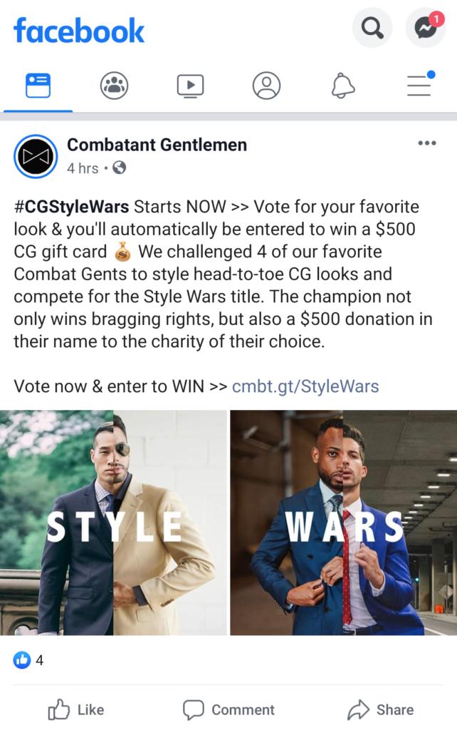Annunci di annunci Facebook - Annuncio di offerte di concorso
