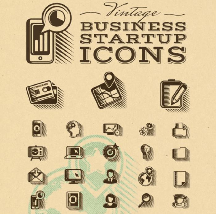 Icone di avviamento aziendale