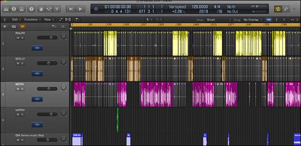 Come si modifica un episodio del podcast Perpetual Traffic in Logic Pro